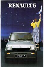Renault 5 Early-Mid 1982 UK Market Brochure Gordini Turbo TX TS Auto GTL TL Base