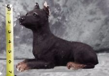 Vintage Chalkware Doberman Pinscher Dog Figurine Cc030