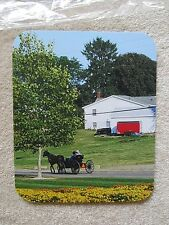 REAL AMISH NATURE OUTDOORS COLORFUL ART BEAUTIFUL SCENIC MOUSE PAD HIGH QUALITY