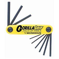 Bondhus Gorilla Grip 9-PIECE IMPERIAL FOLD UP HEX ALLEN KEY SET – Made in USA