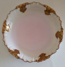 Antique Limoges Gold Rim Serving Bowl Klingenberg and Dwenger 1900-1910 Pink