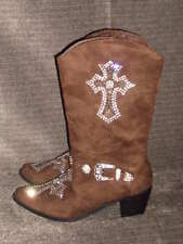 New Women's WB Atlas Rhinestone Cross Boot Size 10