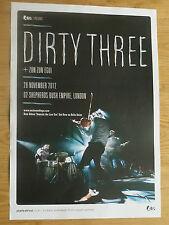 Dirty Three live music memorabilia - London nov.2012 show concert gig poster