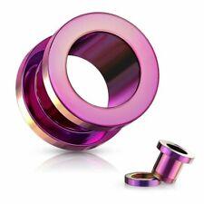 Piercing tunnel en acier Violet