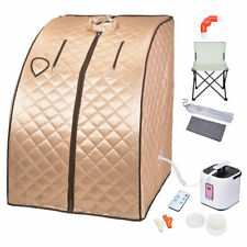Yescom 2L Portable Tent Steam Sauna Spa with Chair - Champagne Gold