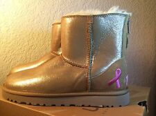 New Ugg Shiny Classic Breast Cancer Chestnut Boot Sz Us 8
