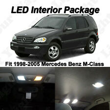 12 x Xenon White SMD LED Lights Interior Package For Mercedes Benz M-CLASS W163