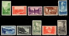 US Stamps: 740-749 National Parks Mint, Never Hinged