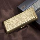 Brass Golden Embossed Arabesque Metal Cigarette Case for 100s cigarettes