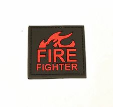 Firefighter Self-Adhesive Tactical Polymer Patch 2x2in