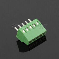 5 poles/5 Pin 2.54mm 0.1'' PCB Universal Screw Terminal Block Connector