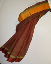 Cotton Silk Kanjeeveram South India Saree Sari Blouse Designer Red Green NEW