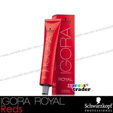Schwarzkopf Professional Igora Royal Permanent Colour Hair Dye 60ml Reds 5-88 Light Extra Red Brown
