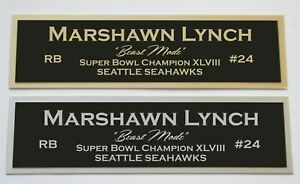 Marshawn Lynch nameplate for signed jersey football helmet or photo