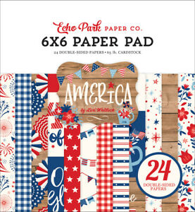 Echo Park - America - 6x6 Paper Pad 24 Double-sided Sheets