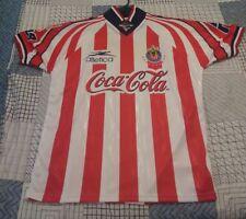 Mens XL Atletica Shirt FMF Official Futbol Jersey Coca-Cola Sol Authentic Stripe