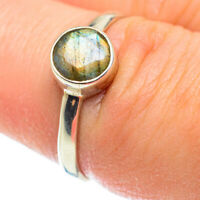 Labradorite 925 Sterling Silver Ring Size 7.75 Ana Co Jewelry R52444F