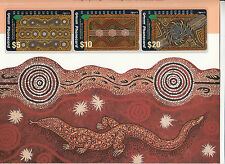 Phonecards 1993 Australia Year of Indigenous People magnetic set of 3 in pack