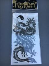 "DRAGON YING YANG~NEW~3"" X 6""~Temporary Tattoo~--SCARY-BUY1GET1FREE`SKU88"