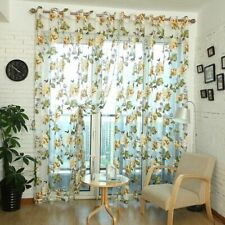 Floral Tulle In Sheer Curtains For Living Room The Bedroom Kitchen Shade Window
