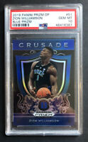 2019 Panini Prizm Blue Refractor Zion Williamson Rookie Card PSA 10 Gem Mint