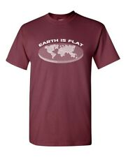 The Earth is Flat Conspiracy Theory Men's Tee Shirt 1866