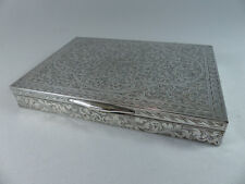 Vintage Mid Century Fancy Ornate 800 Italian Silver Box Jewelry Trinket Cigar