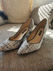 Nine West Tweed Block Heel Size 8