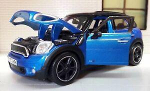 1:24 Scale Mini Countryman Cooper All4 2010 1.6 2.0 Diecast Maisto Model Blue