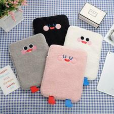 Tablet Protect Pouch Bag Case Sleeve Cute Cartoon Plush Laptop Cover Pocket
