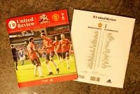 Manchester United v Tottenham Hotspur Spurs COMPETE SOLD OUT PROGRAMME 4/10/20!!