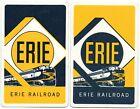 vintage ERIE railroad train advert swap card playing card pr  railway