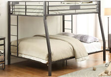 NEW OBERON CONTEMPORARY BLACK SAND FINISH METAL XL FULL OVER QUEEN BUNK BED