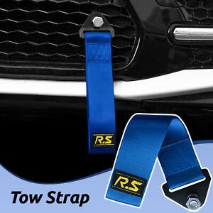 Car Tow Rope High Strength Racing Sports Drift Rally Towing Blue Hook Strap Belt