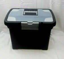 Sterilite Mobile File Box Letter Size Top Divided Storage for Pens, Clips, Etc.
