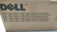 Genuine Dell 1230c / 1235cn Cyan Toner Brand New See Photos 1,000 Pages