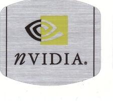 NVIDIA pegatinas plata sticker case Badge