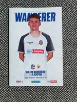 Bolton Wanderers v Blackpool Programme 7/10/19! FREE UK DELIVERY!! LAST ONE!!!