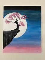 Original Acrylic Painting On Canvas Midnight Blossom RARE By Artist Matt Morales