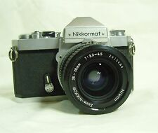 Nikon Nikkormat FT2 camera with a Nikon Nikkor 35-70mm 1:3.3-4.5 lens