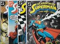 Adventures of Superman #440, #441, #442 & #443    Lot of 4 (1988, DC Comics)