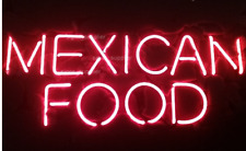 """New Mexican Food Beer Bar Gift Pub Neon Light Sign 24''X20"""""""