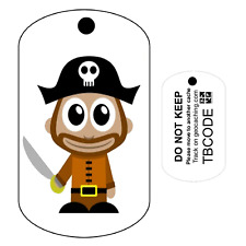 Pirate Captain (Travel Bug) For Geocaching - Trackable Tag