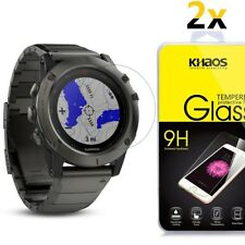 2 Pack Khaos for Garmin Fenix 5 Tempered Glass Screen Protector
