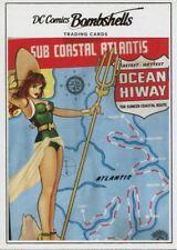 DC Comics Bombshells Copper Deco Base Card J15 Aquaman - Volume 7 #32
