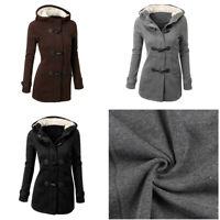Women Parka Hooded Trench Coat Jacket Outwear Winter Warm Long Overcoat Hoodies