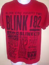Blink 182 Logo Travis Barker Tom Delong Medium T-Shirt Punk Rock Out Of Print