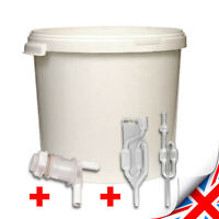 20 LITRE FERMENTING/FERMENTATION BUCKET VESSEL WITH AIRLOCK HOME BREW BEER UK