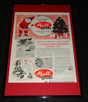 1955 Mall Tools Framed 11x17 ORIGINAL Advertising Display