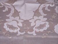 EXQUISITE MADEIRA SHADOW APPLIQUE TABLECLOTH, 11 NAPKINS, DAFFODIL PATTERN 1940